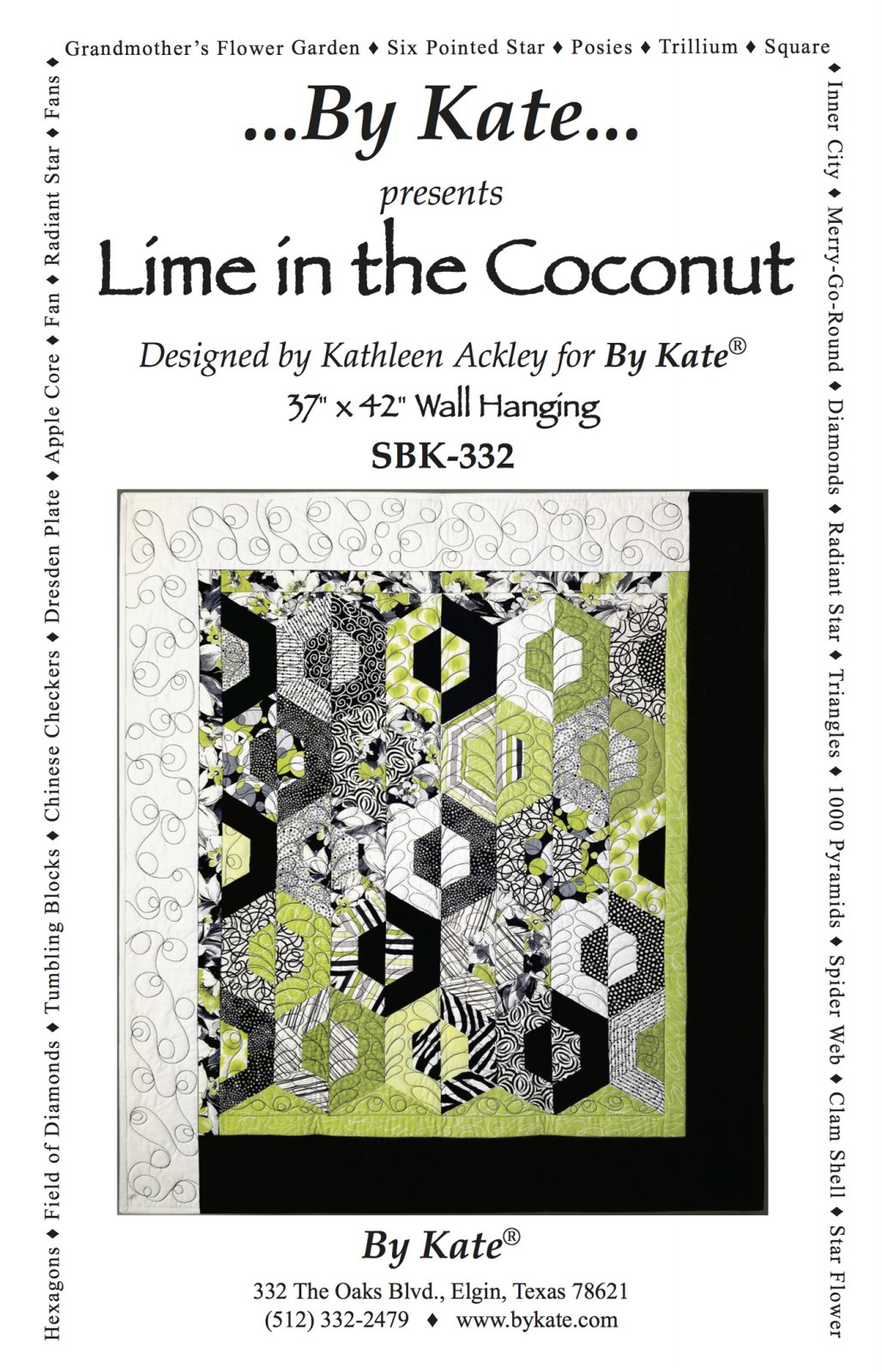 Lime in the Coconut Quilt Pattern