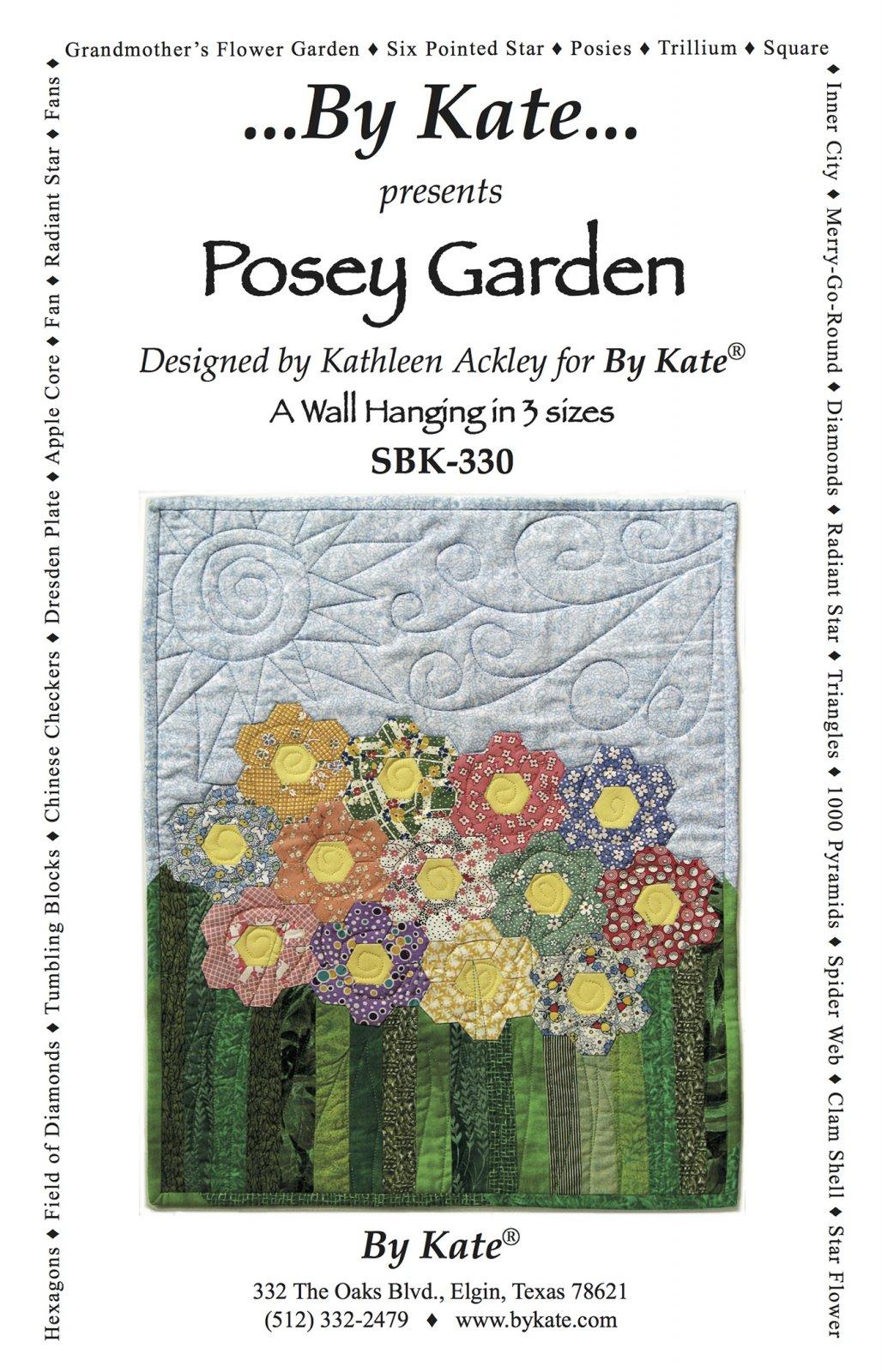 Posey Garden Pattern - Wall Hanging