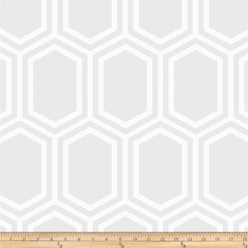 Opalescent - Hexagon Tone on Tone White
