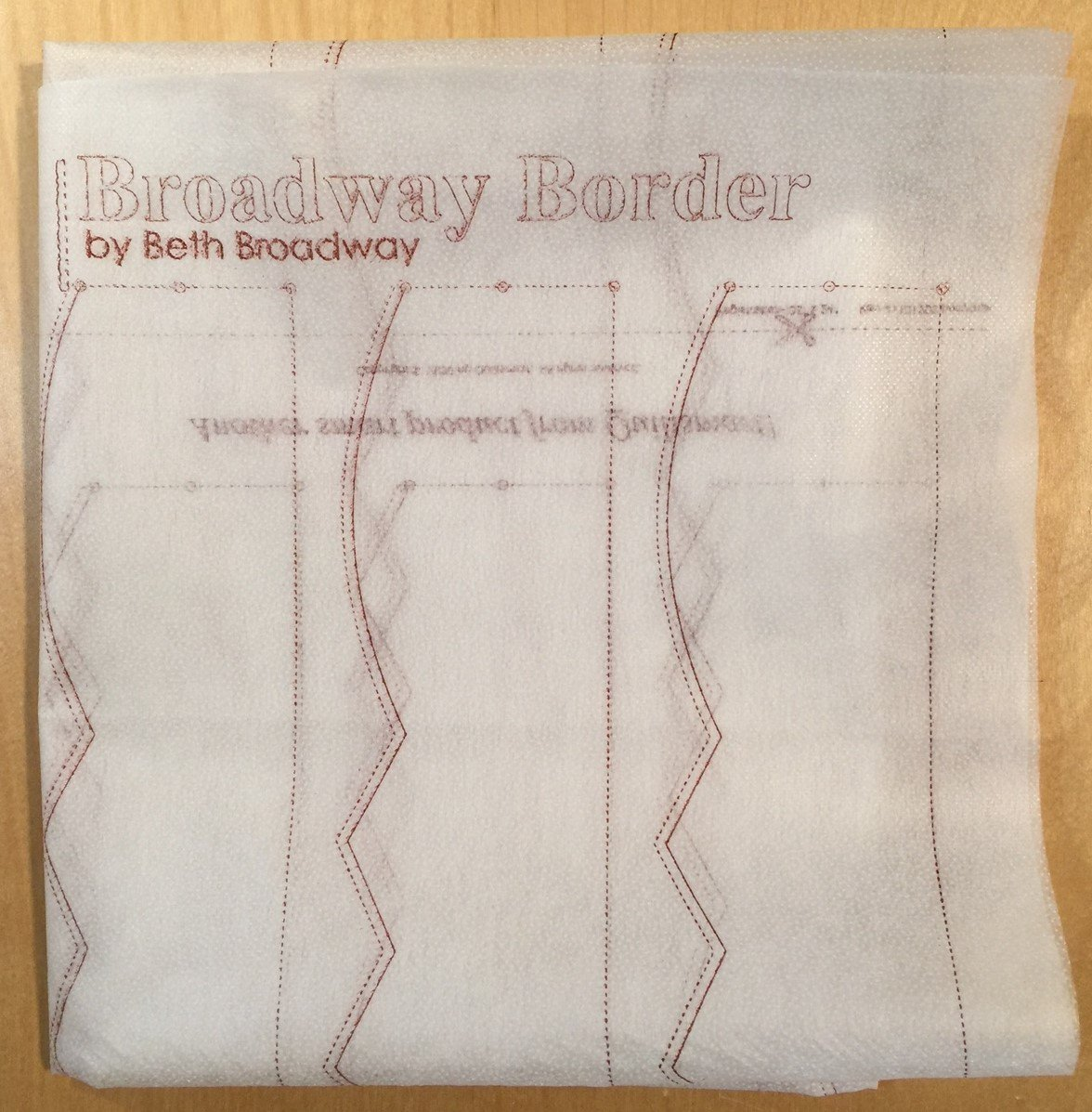 Broadway Border Interfacing Panel
