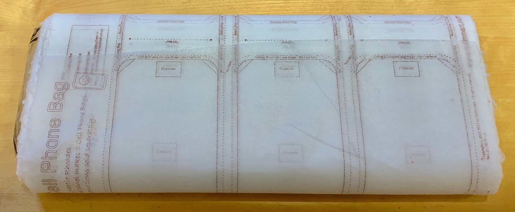 Cell Phone Bag Printed Interfacing  25-panel Bolt