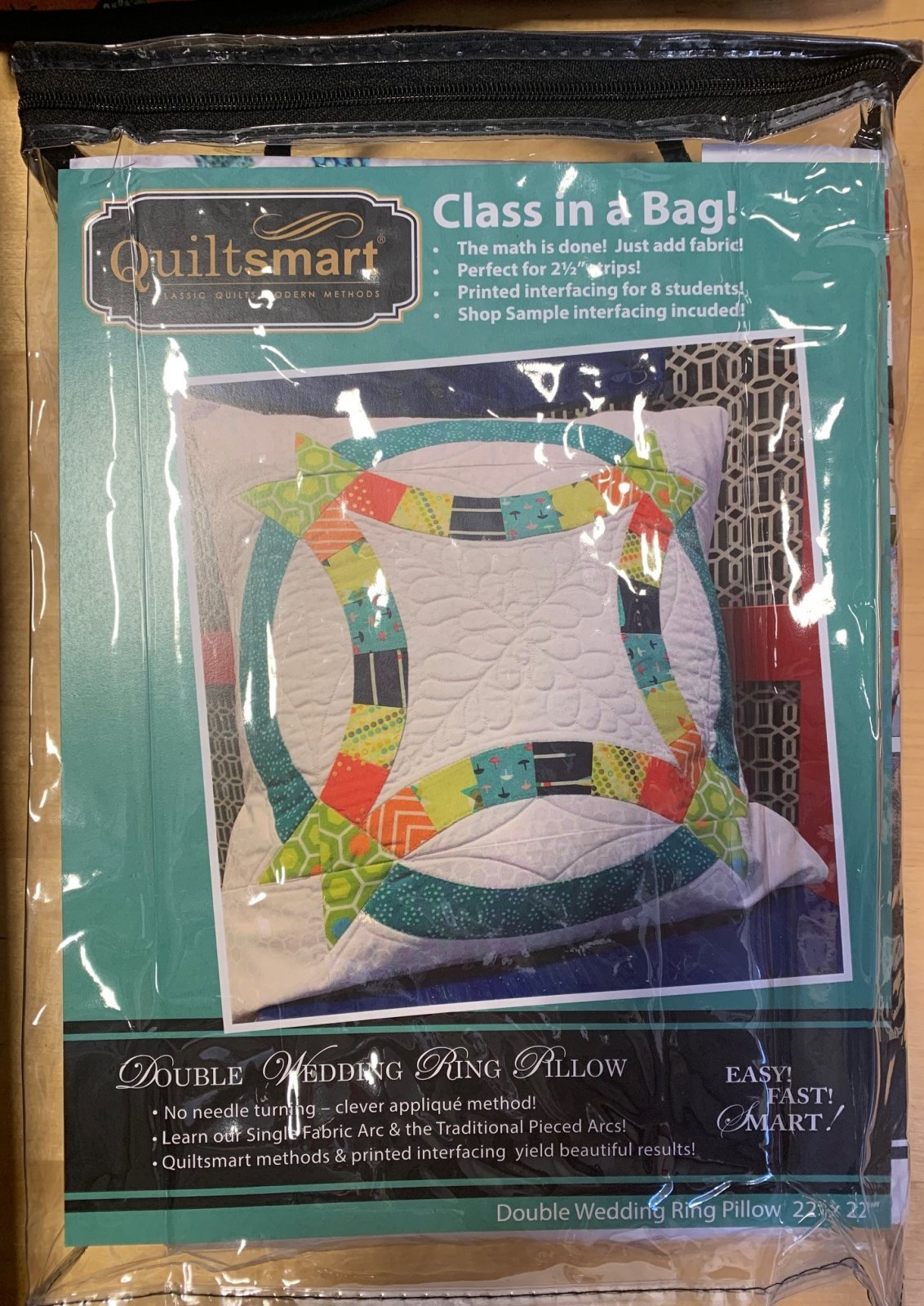 Double Wedding Ring Pillow (CLASS in a Bag) - WHOLESALE