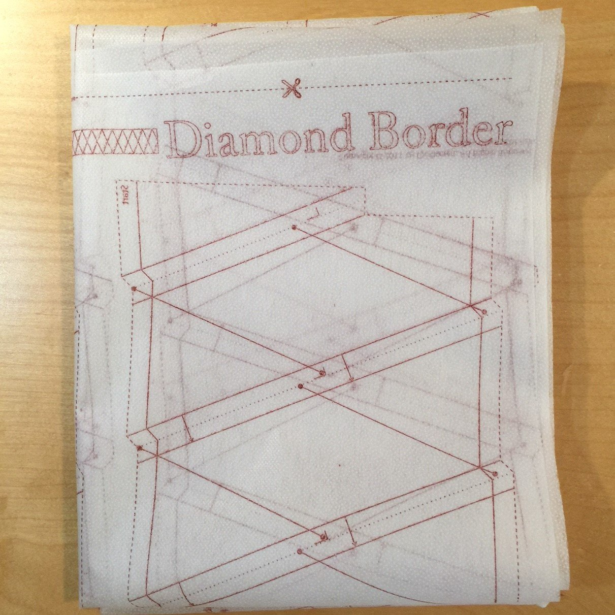 Diamond Border Interfacing Panel