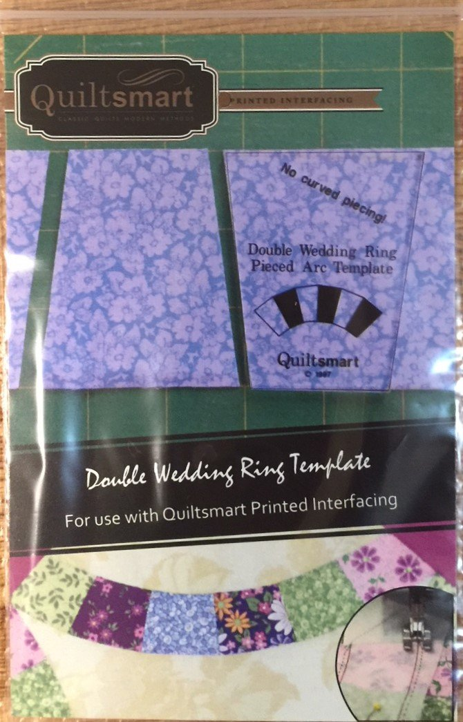 Template for Double Wedding Ring Pieced Arcs