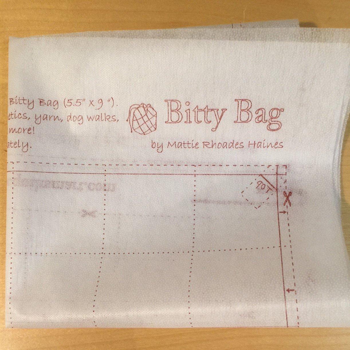 Bitty Bag Interfacing Panel