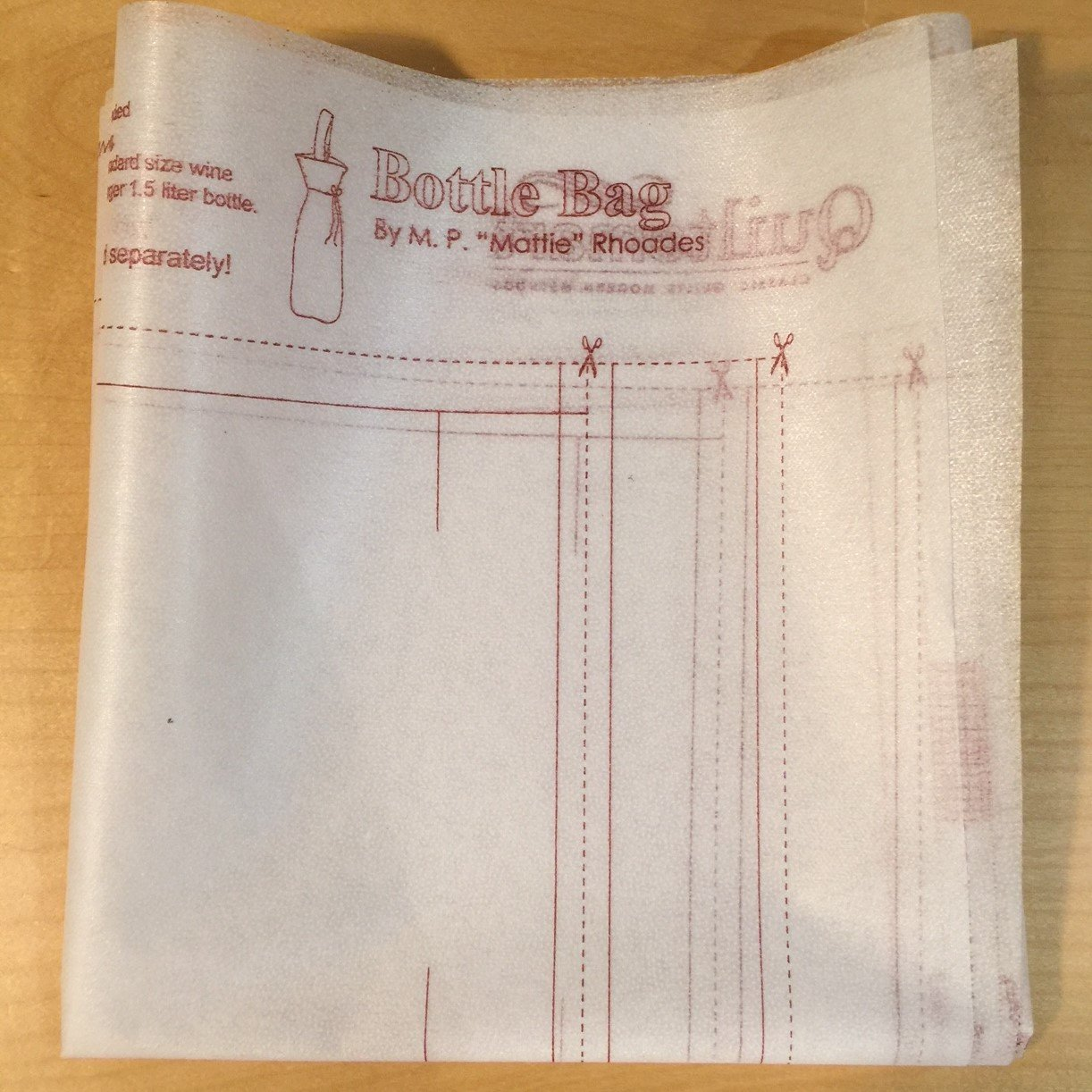 Bottle Bag Interfacing Panel