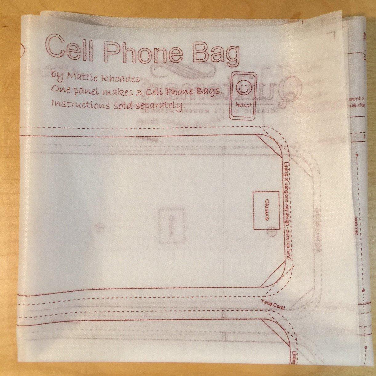 Cell Phone Bag interfacing panel