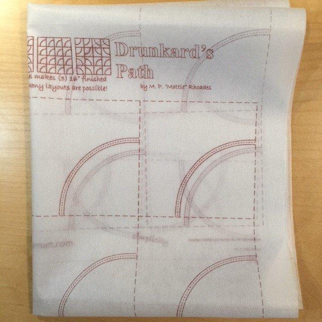 Drunkard's Path Printed Interfacing