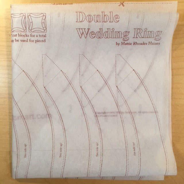 Double Wedding Ring Interfacing by the Panel