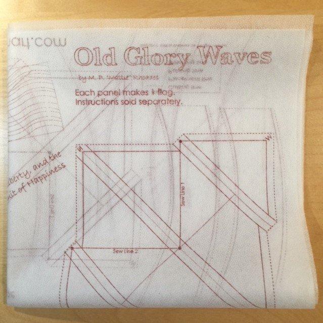 Old Glory Waves Interfacing Panel