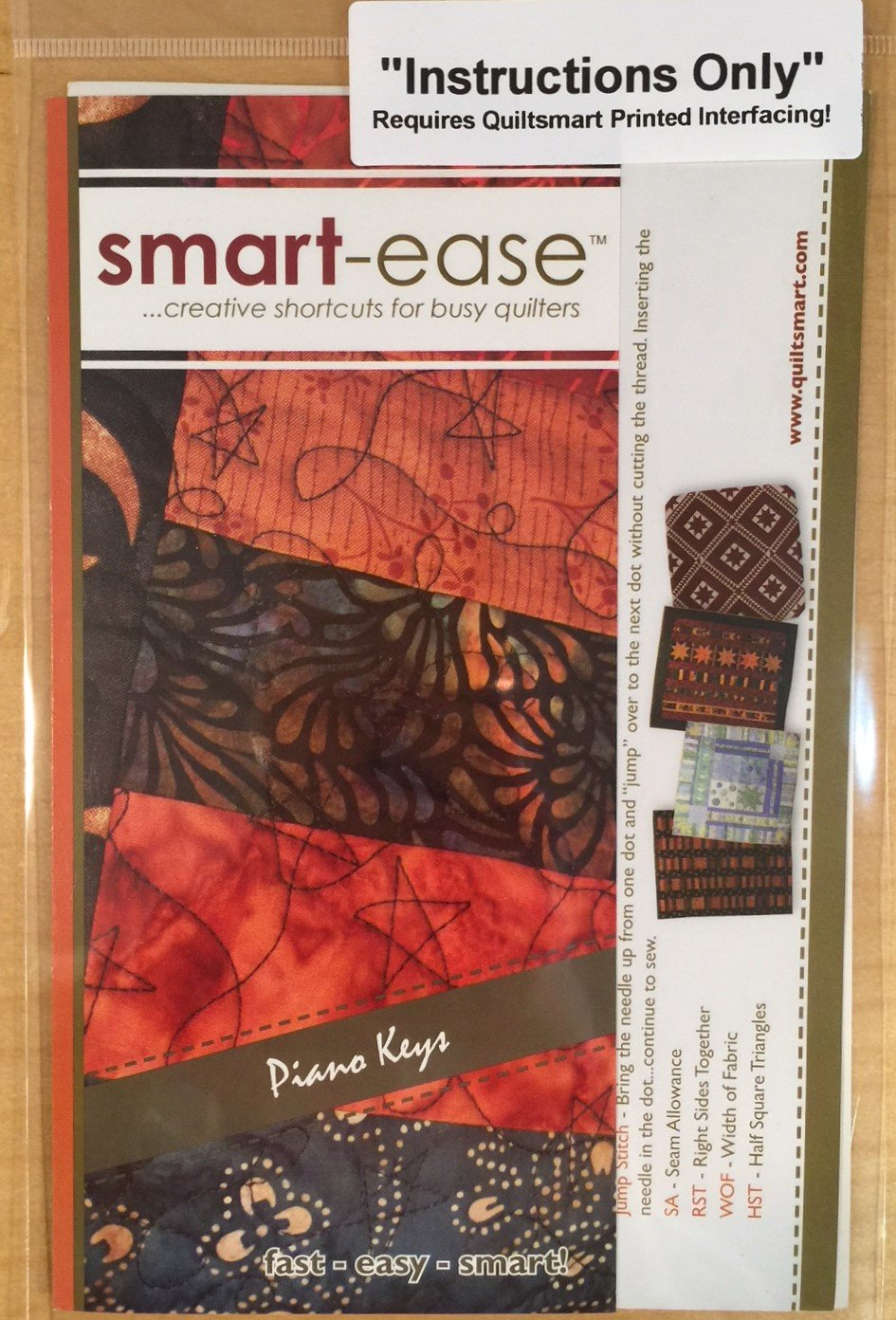 smart-ease Piano Keys - Instructions Only