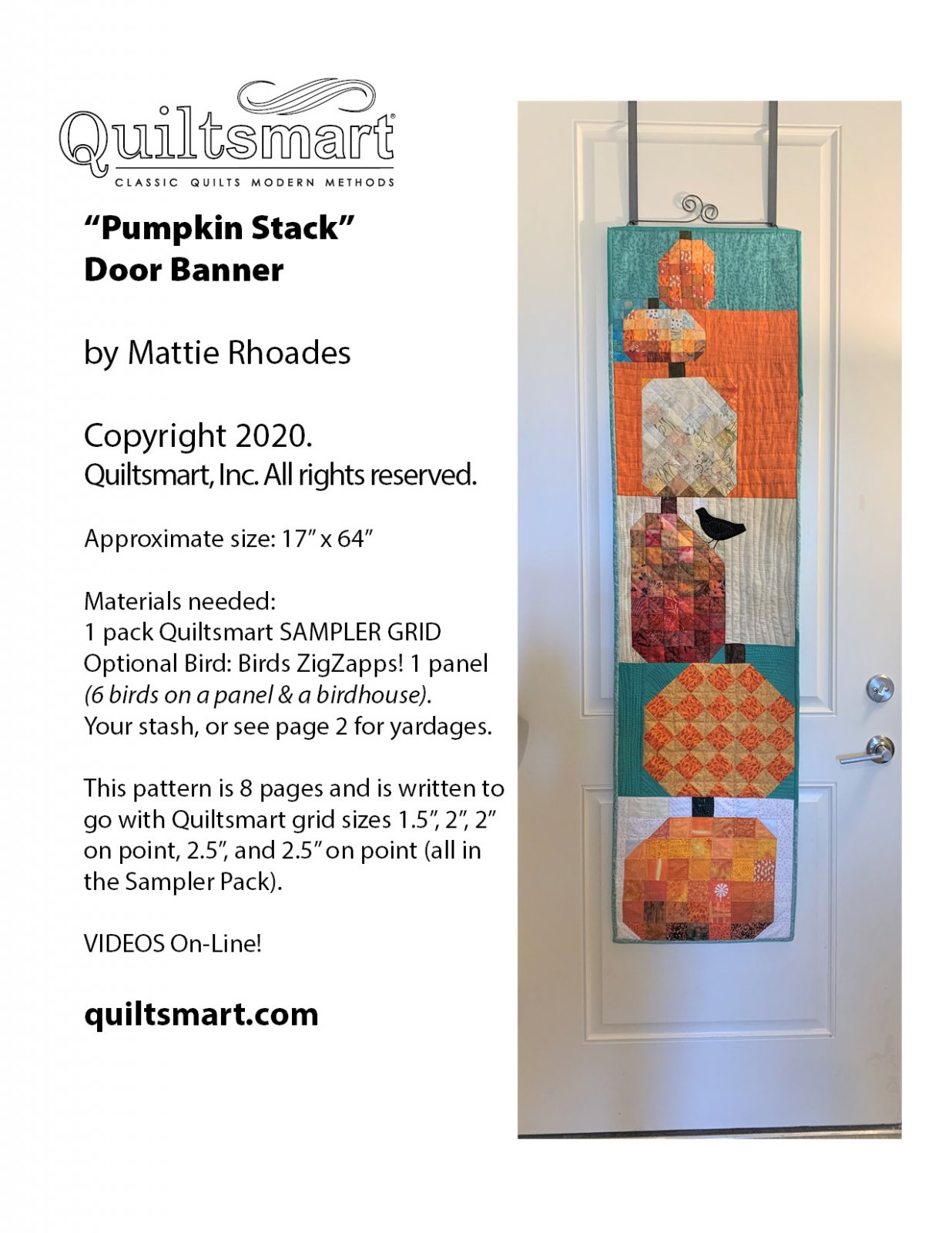 Pumpkin Stack Door Banner Instructions Only for Digital Download -