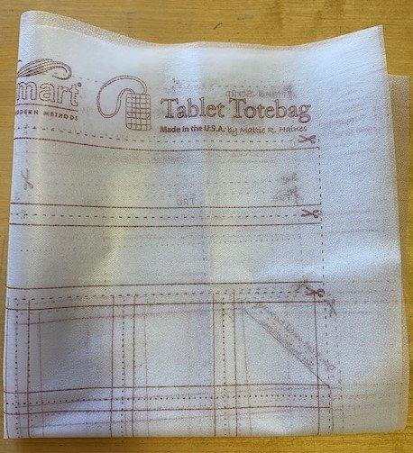 Tablet Tote Bag  interfacing panel