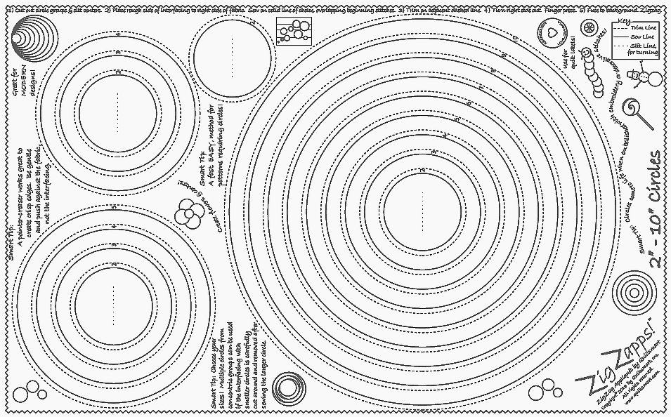 ZigZapps!  2 - 10 Circles (6-pack)