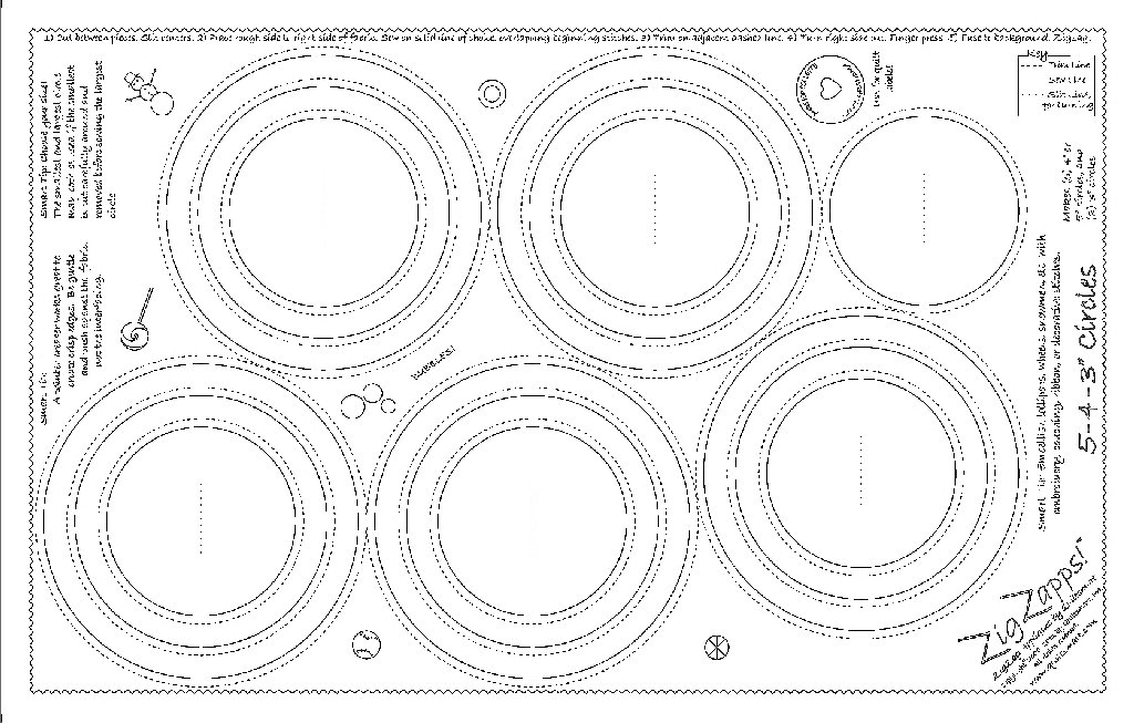 ZigZapps!  5-4-3 Circles (5 pack)