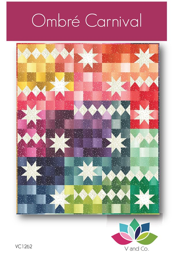 Ombre Carnival Pattern, 67 1/2 x 81, designed by Vanessa Christenson