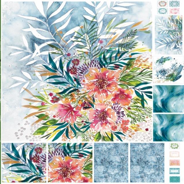 Moody Bloom Digital Panel (8450 11P) designed by Create Joy Project