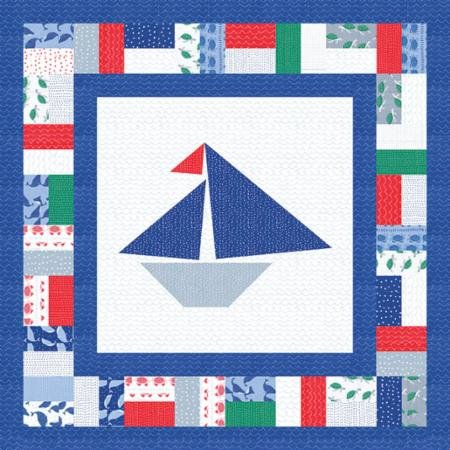 Ahoy Set Sail Pattern designed by Gingiber for Moda, 36 x 36
