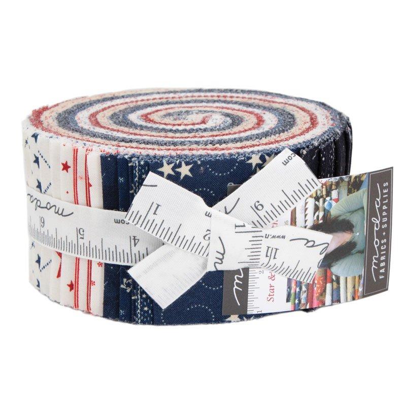 Star & Stripe Gatherings Jelly Roll (42 - 2 1/2 x WOF Strips) designed by Primitive Gatherings