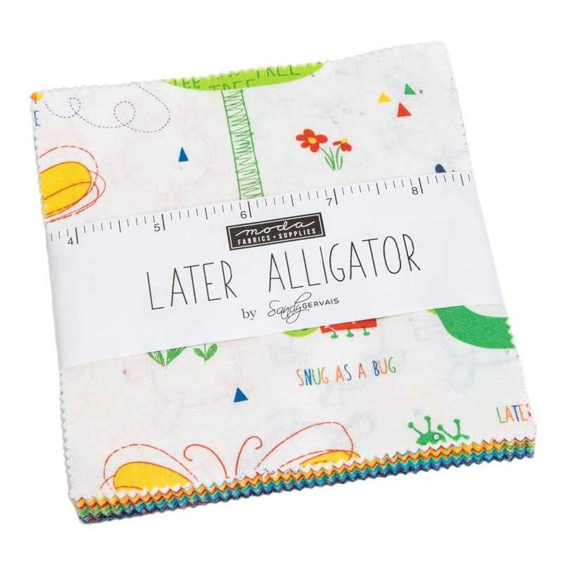 Later Alligator Charm Squares (42 - 5 x 5 squares) by Sandy Gervais for Moda