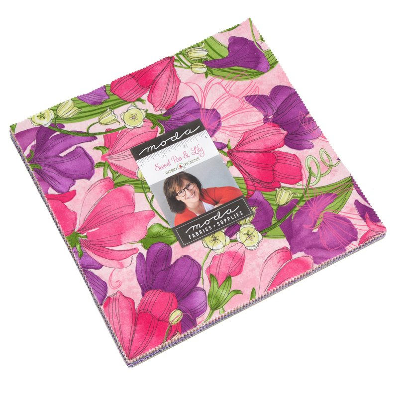 Sweet Pea & Lily Layer Cake (42 - 10 x 10 squares) designed by Robin Pickens for Moda
