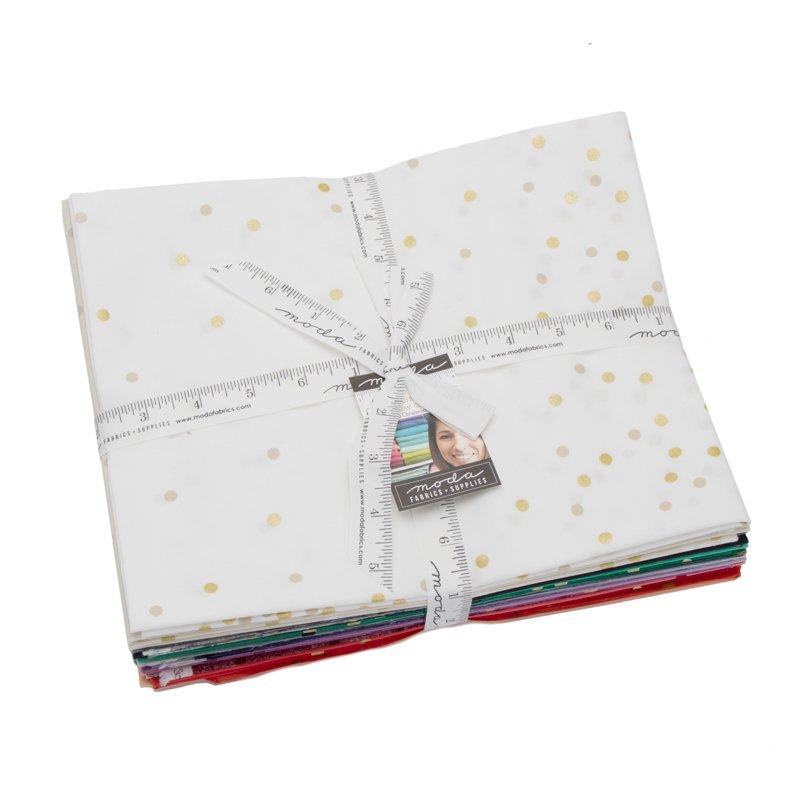 Ombre Confetti Metallic Half Yard Bundle designed by V&Co.