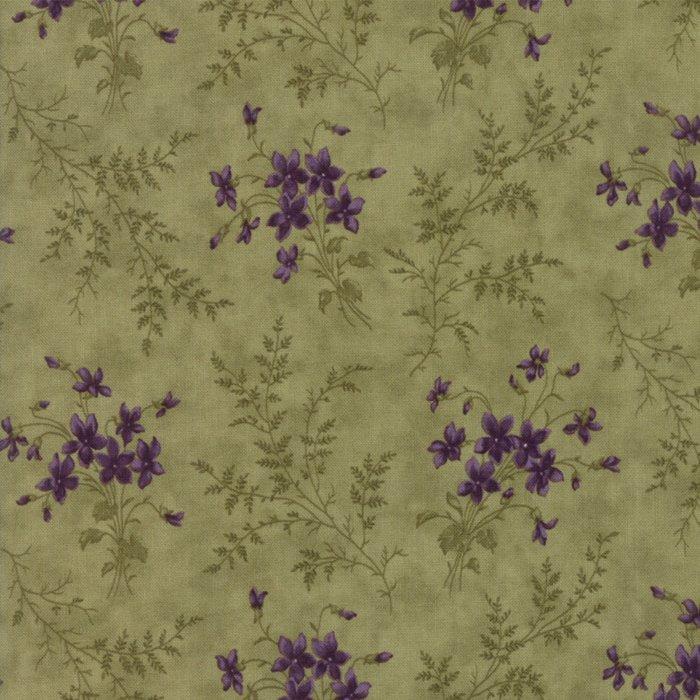 Sweet Violet Leaf Bouquet designed by Jan Patek Quilts for Moda