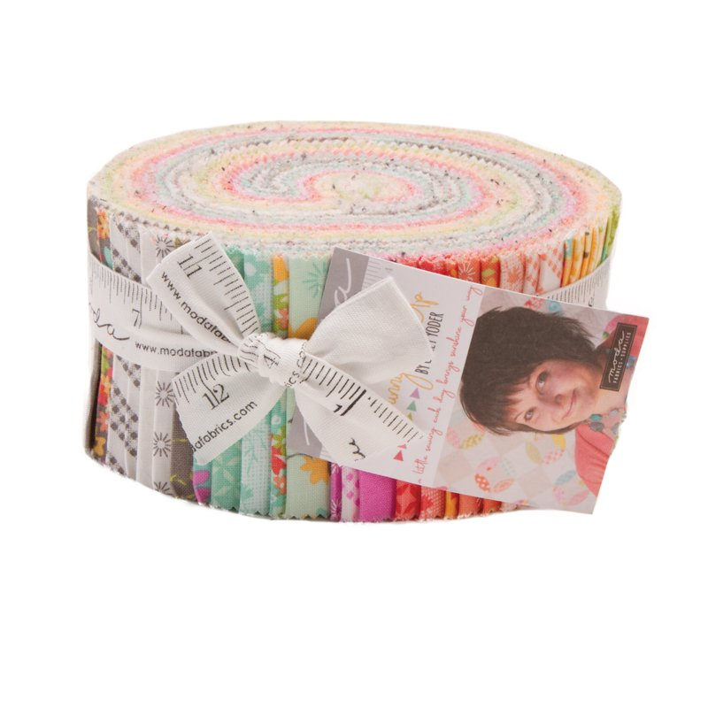 Sunnyside Up Jelly Roll (42 - 2 1/2 x WOF Strips) designed by Corey Yoder for Moda Fabrics, 57 x 69 - copy