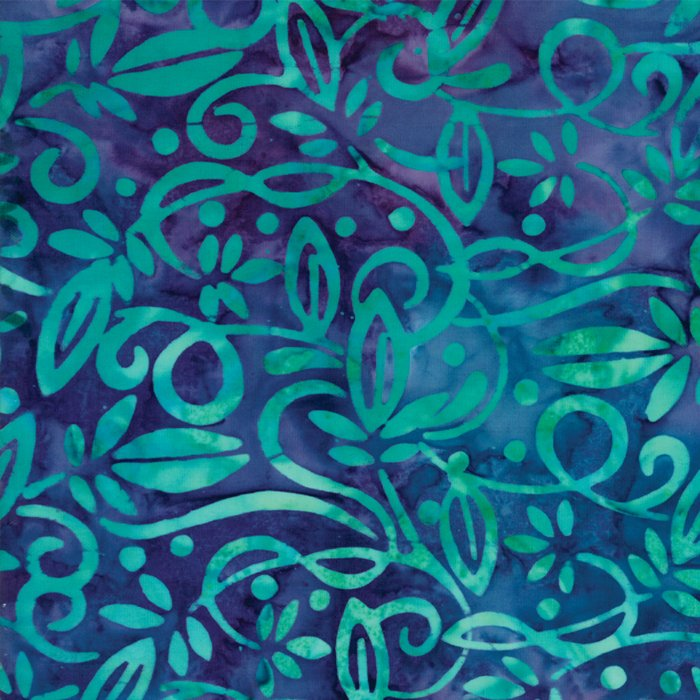 Carnival Batiks Purple Floral designed by Moda Fabrics   - copy