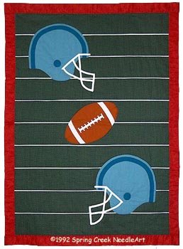 Football Quilt Pattern, Twin, Crib and Wall designed by Spring Creek NeedleArt