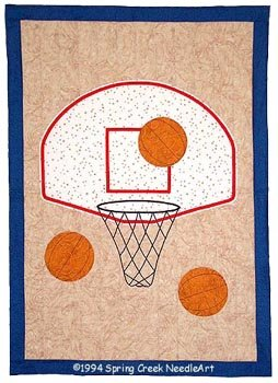 Basketball Quilt, Twin, Crib, Wall designed by Spring Creek NeedleArt