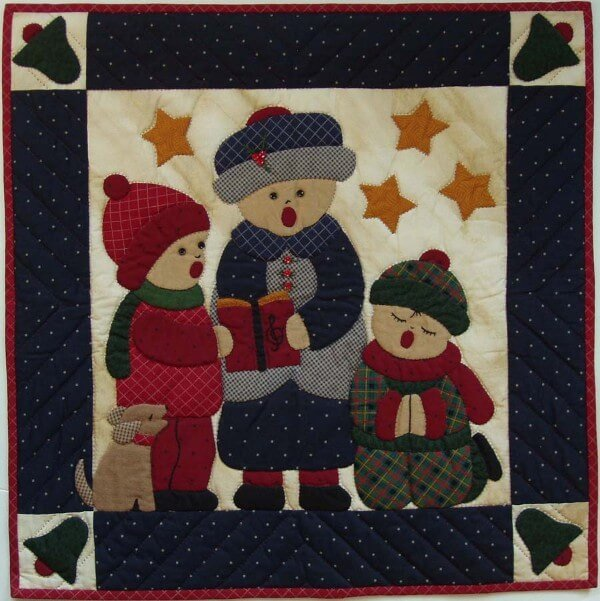 Carolers Wallhanging Quilt Kit, 22 x 22