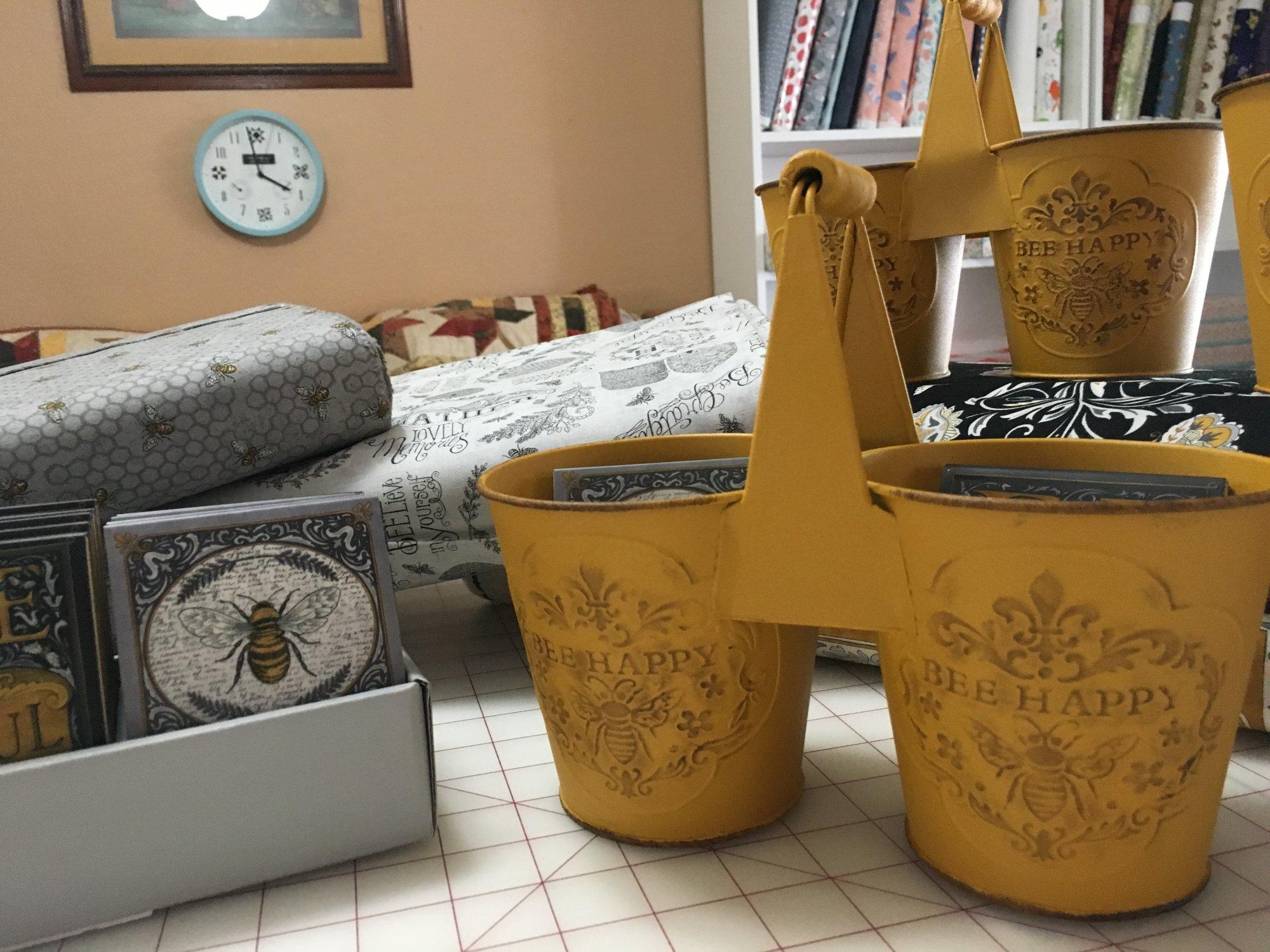 Bee Joyful Divided Tin designed by Deb Strain for Moda