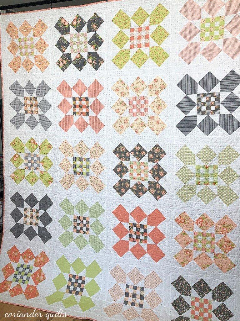 Apricot & Ash Fat Quarter friendly Marketplace Pattern designed by Corey Yoder