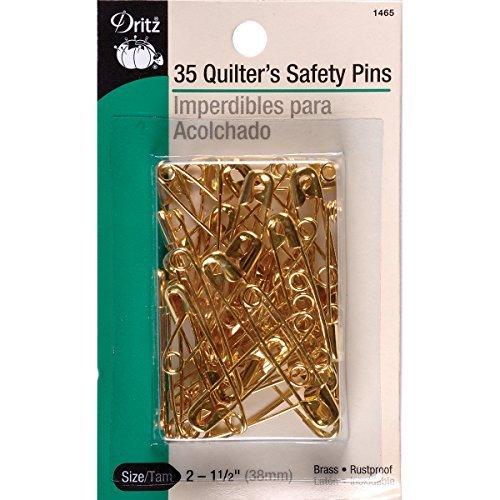 Dritz 35 Brass basting pins