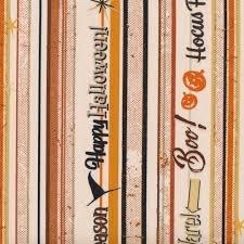 Retro Halloween - cream stripe