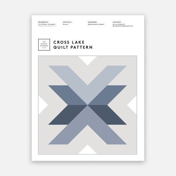 Cross Lake Quilt Pattern