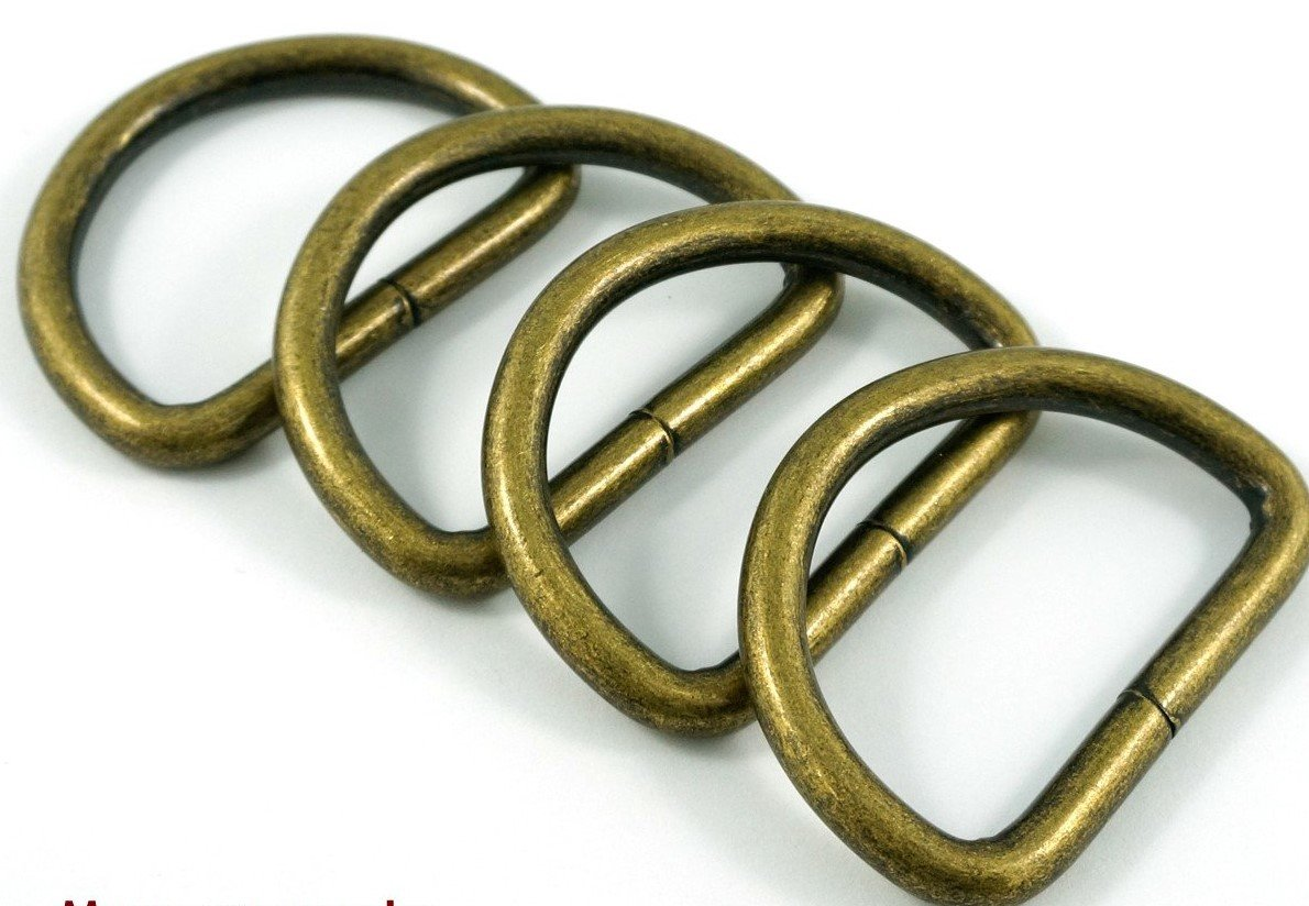 D-Rings 1 1/2 in Antique Brass