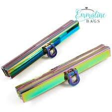 Wallet Closure 7 1/2in wide in Iridescent Rainbow