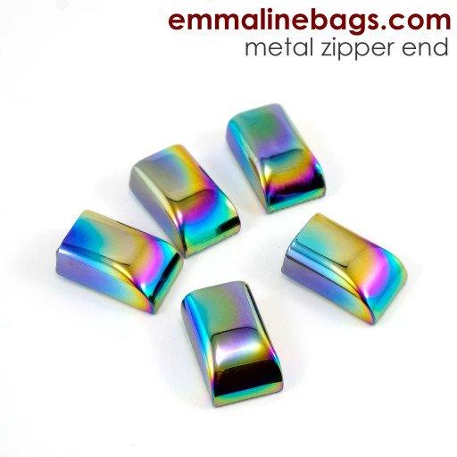 Emmaline Bags Zipper Ends - Iridescent Rainbow
