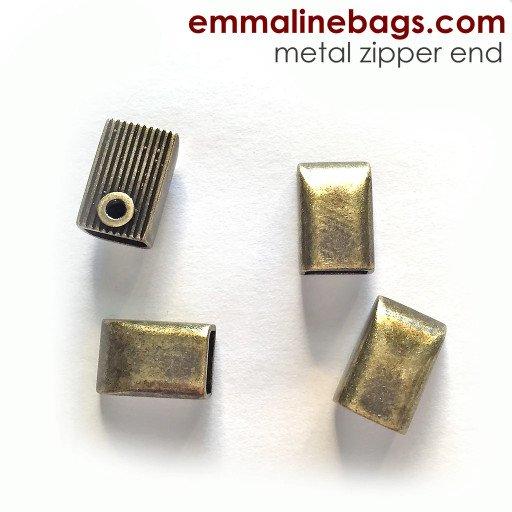Emmaline Bags Zipper Ends Antique Brass