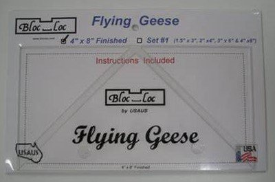 Bloc Loc Flying Geese Ruler 4 x 8 Finished