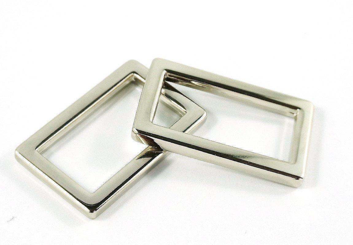Flat rectangular Rings 1 in Nickel