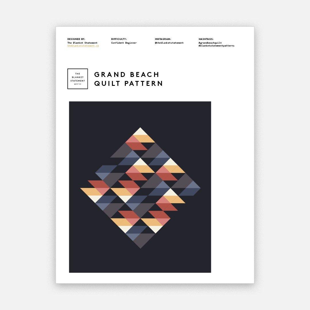 Grand Beach Quilt Pattern