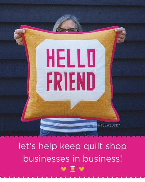 Hello Friend Pillow Pattern Paper Copy