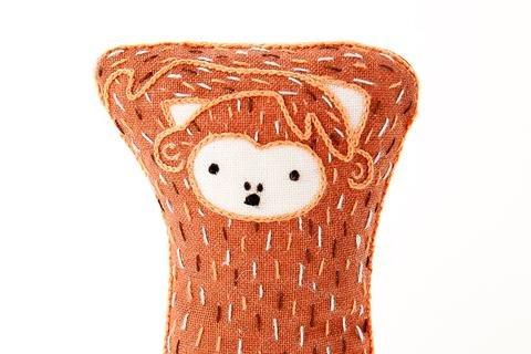Kiriki Press DIY Embroidered Doll Starter Kit - Monkey