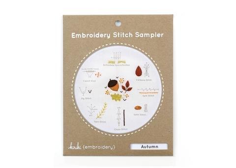 Kiriki Press Embroidery Stitch Sampler - Autumn