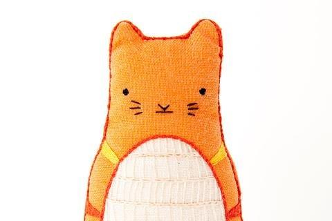 Kiriki Press DIY Embroidered Doll Starter Kit - Tabby Cat