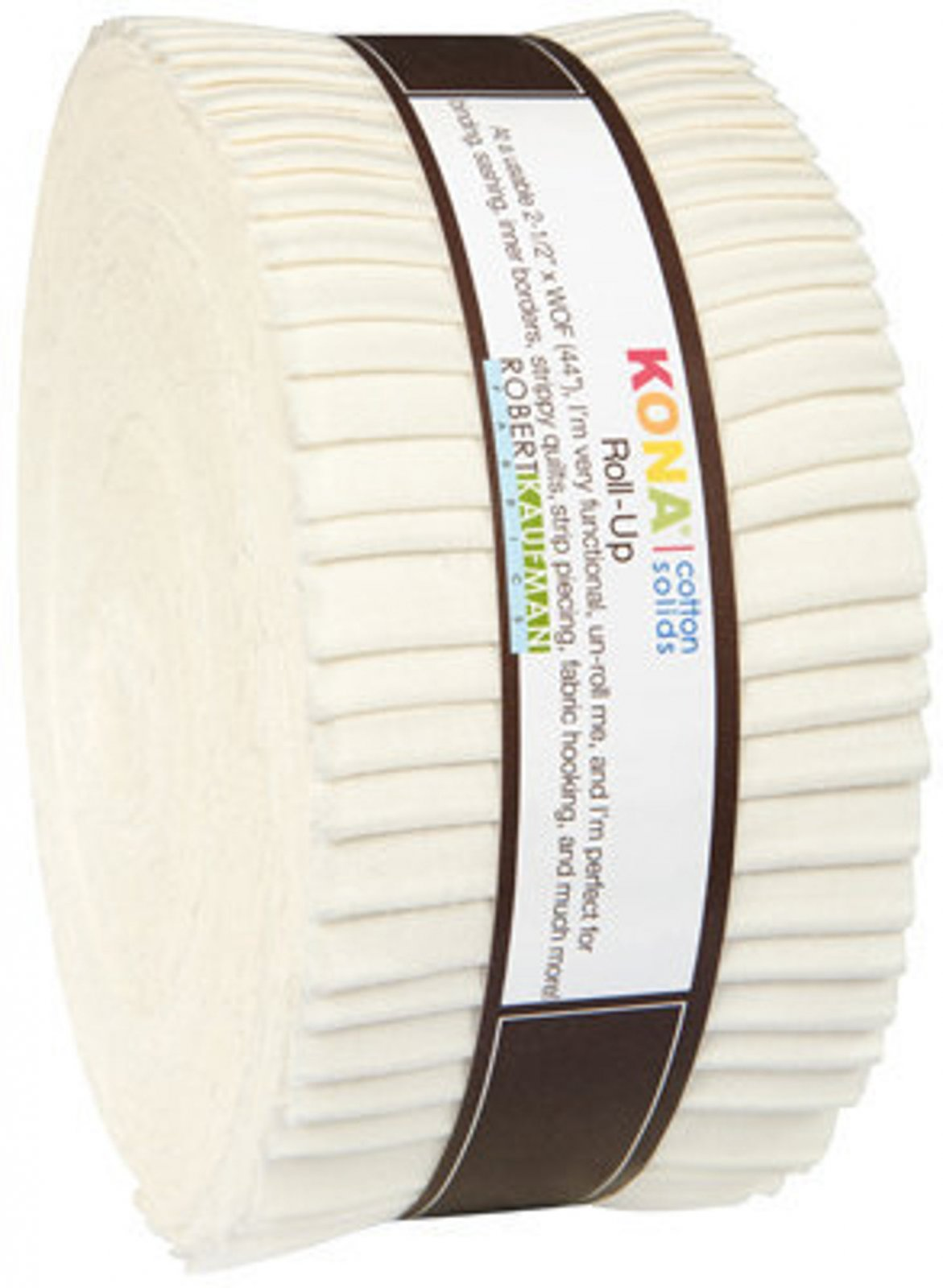 2 1/2 strips Roll Up Kona Cotton Solids - Snow, 40 pieces