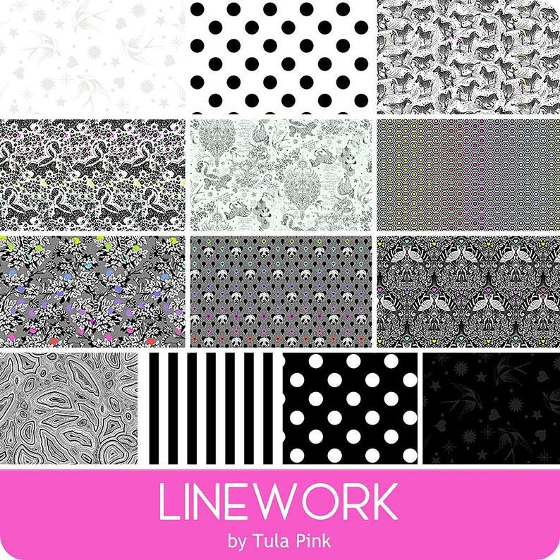 Tula Pink Linework - 42 pc 5 charm pack